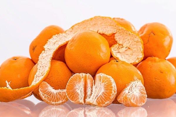 фото чищенных мандаринов