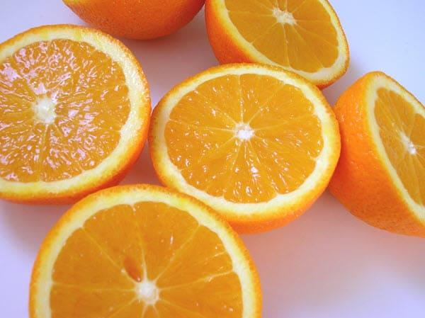 фото разрезанного апельсина