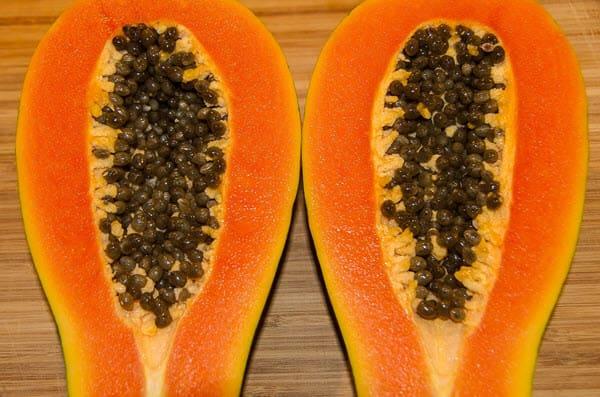 фото овальной папайи