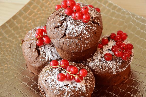 фото кексов с красной смородиной