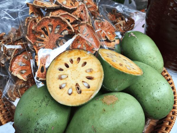 фото свежих и сушеных плодов баиля