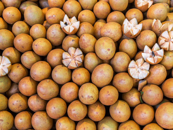 фото овальных плодов самодиллы на рынке